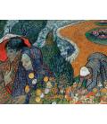 Stampa su tela: Vincent Van Gogh - Reminiscenza del giardino a Etten