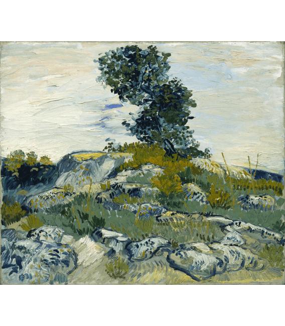 Stampa su tela: Vincent Van Gogh - Rocce