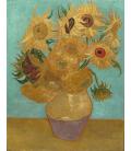 Vincent Van Gogh - serie Girasoli, 12 girasoli in un vaso. Stampa su tela