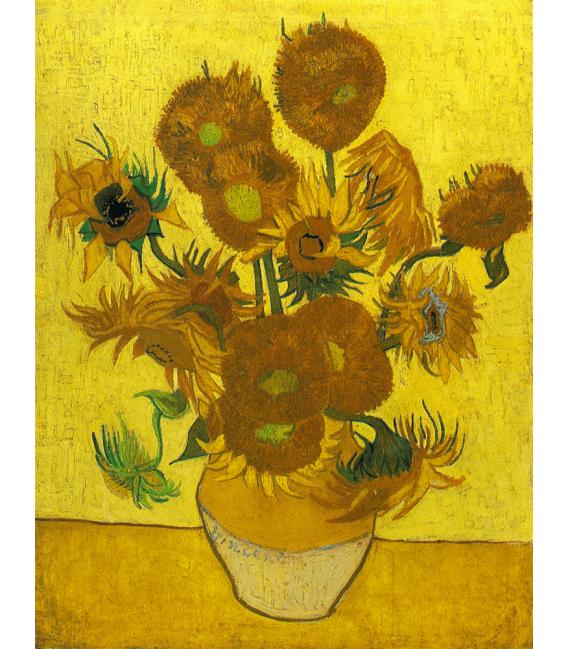 Stampa su tela: Vincent Van Gogh - serie Girasoli, Natura Morta con Girasoli