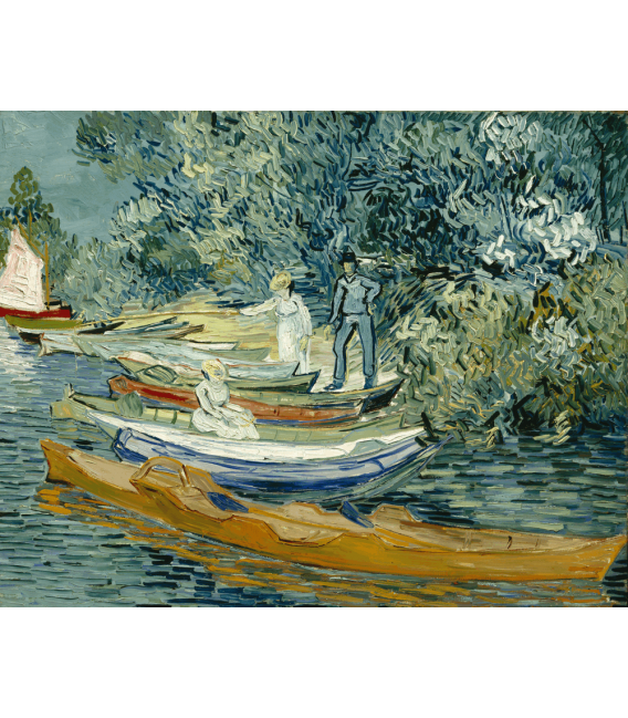 Printing on canvas: Vincent Van Gogh - Bank of the Oise at Auvers