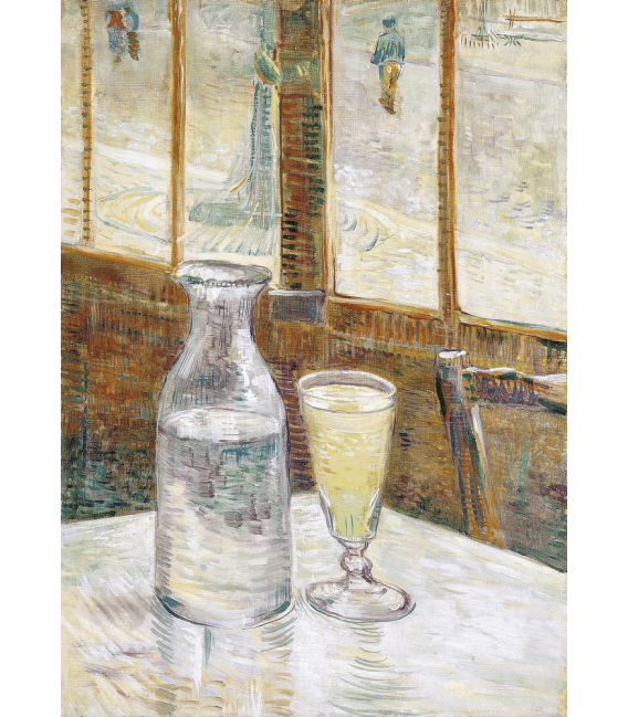 Printing on canvas: Vincent Van Gogh - Cafe Table with Absinth