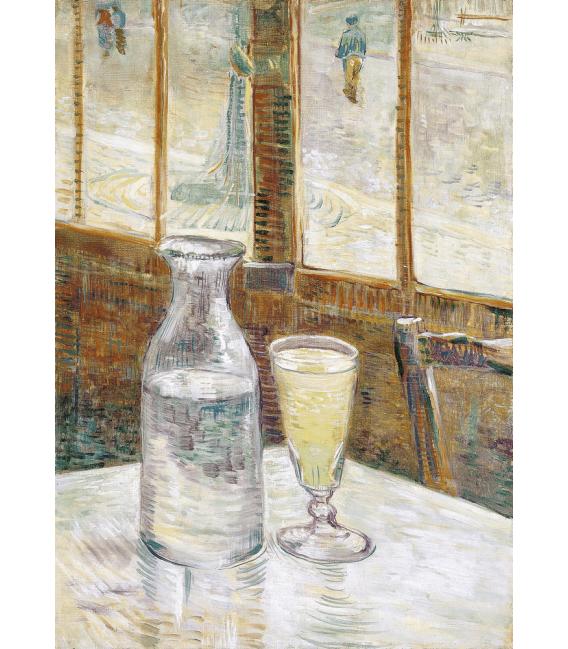 Stampa su tela: Vincent Van Gogh - Tavolino bar con assenzio
