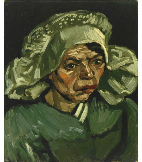 Printing on canvas: Vincent Van Gogh - Head of a peasant woman with white cap