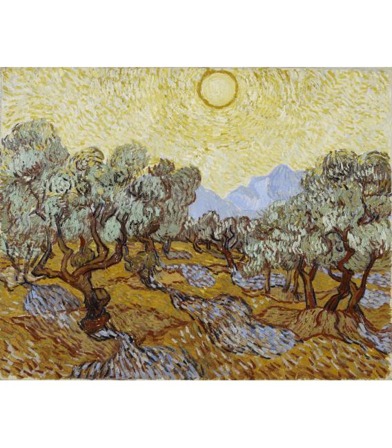 Stampa su tela: Vincent Van Gogh - Ulivi