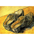 Vincent Van Gogh - A pair of leather clogs. Printing on canvas