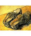 Stampa su tela: Vincent Van Gogh - Un paio di zoccoli in pelle