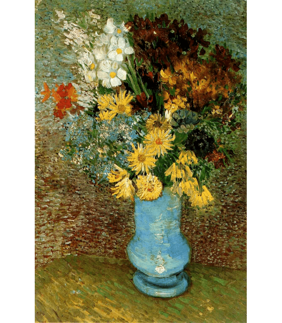 Printing on canvas: Vincent Van Gogh - Vase with daisies and anemones