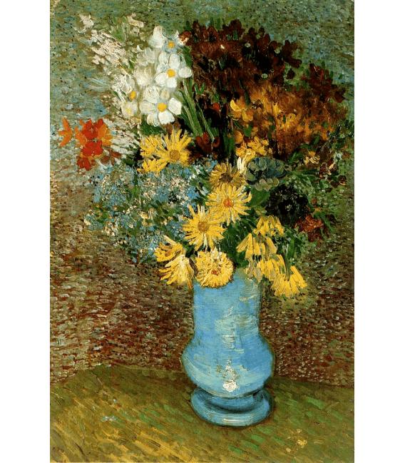 Stampa su tela: Vincent Van Gogh - Vaso con margherite e anemoni