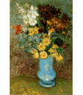 Vincent Van Gogh - Vase with daisies and anemones. Printing on canvas