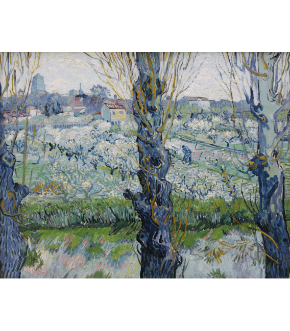 Printing on canvas: Vincent Van Gogh - Orchard in Blossom with View of Arles