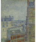 Stampa su tela: Vincent Van Gogh - Vista dall'appartamento di Theo