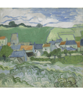 Vincent Van Gogh - View of Auvers. Printing on canvas