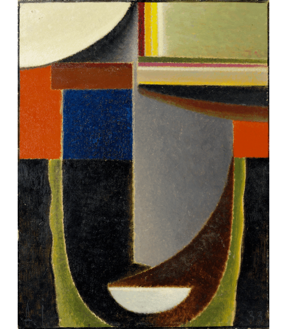 Stampa su tela: Von Jawlensky Alexej - Abstract Head