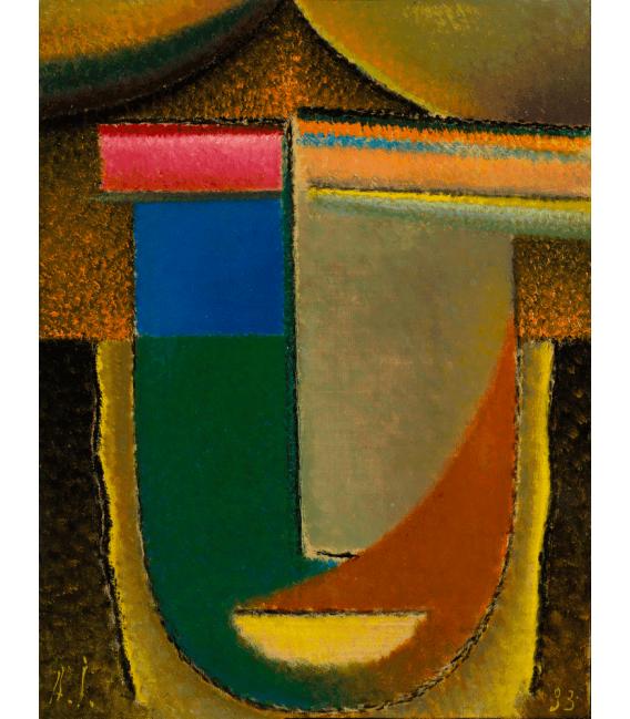 Stampa su tela: Von Jawlensky Alexej - Abstrakter Kopf