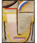 Alexej Von Jawlensky - Testa Astratta 1933. Stampa su tela