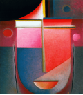 Printing on canvas: Alexej von Jawlensky - Introspective Pink Light