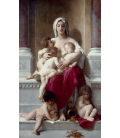 William Adolphe Bouguereau - Charity. Printing on canvas