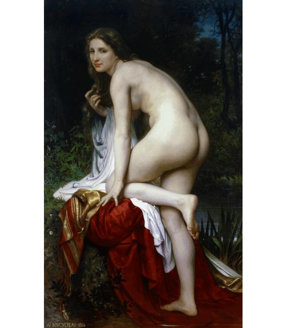 Stampa su tela: William Adolphe Bouguereau - Bagnante