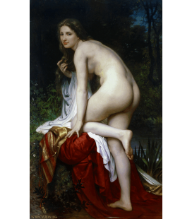 Printing on canvas: William Adolphe Bouguereau - Bather