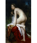 William Adolphe Bouguereau - Bather. Printing on canvas