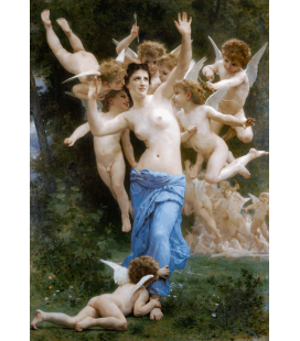 Printing on canvas: William Adolphe Bouguereau - The Wasp's Nest