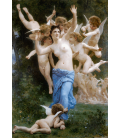 William Adolphe Bouguereau - The Wasp's Nest. Printing on canvas