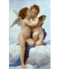 William Adolphe Bouguereau - First Kiss. Printing on canvas