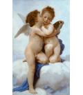 Stampa su tela: William Adolphe Bouguereau - Primo bacio