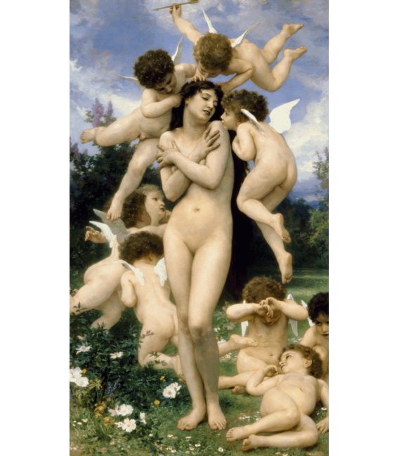 Printing on canvas: William Adolphe Bouguereau - Return of Spring