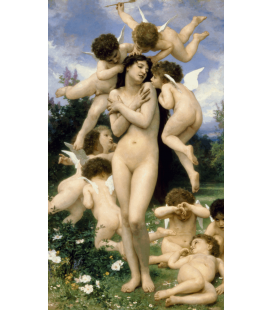 William Adolphe Bouguereau - Return of Spring. Printing on canvas