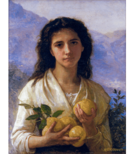 Printing on canvas: William Adolphe Bouguereau - Girl Holding Lemons