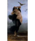 William Adolphe Bouguereau - Night. Printing on canvas