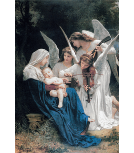 William Adolphe Bouguereau - Canzoni degli Angeli. Stampa su tela