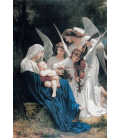 William Adolphe Bouguereau - Song of the Angels. Printing on canvas