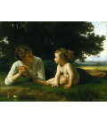 Printing on canvas: William Adolphe Bouguereau - Temptation