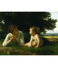 William Adolphe Bouguereau - Tentazione. Stampa su tela