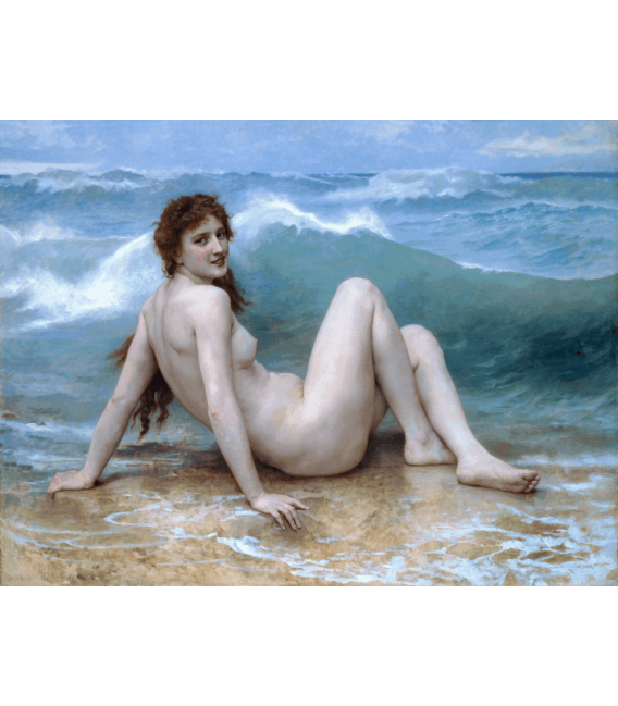 Printing on canvas: William Adolphe Bouguereau - The Wave