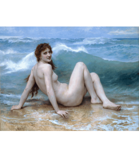 William Adolphe Bouguereau - L'onda. Stampa su tela