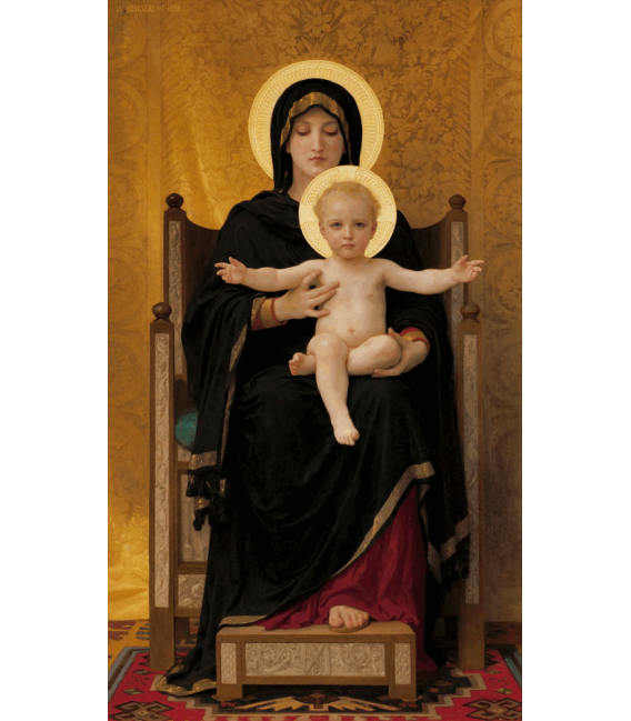 Printing on canvas: William Adolphe Bouguereau - Virgin and Child