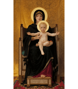 William Adolphe Bouguereau - Virgin and Child. Printing on canvas