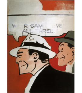 Andy Warhol - Dick Tracy American Painting. Stampa su tela