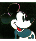Andy Warhol - Mickey Mouse. Stampa su tela