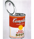 Andy Warhol - Big Campbell's Soup Can. Printing on canvas