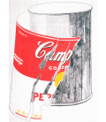 Andy Warhol - Big Torn Campbell's Soup Can (Vegetable Beef). Printing on canvas