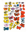 Andy Warhol - Butterflies. Printing on canvas
