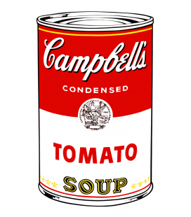 Andy Warhol - Campbell's Soup Can Tomato. Stampa su tela