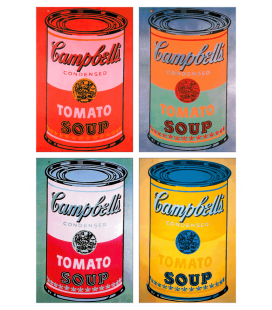 Andy Warhol - Campbell's Soup Can Tomato Colours. Stampa su tela