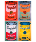 Andy Warhol - Campbell's Soup Can Tomato Colours. Printing on canvas