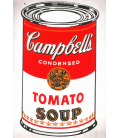 Andy Warhol - Campbell's Soup Can Tomato. Printing on canvas